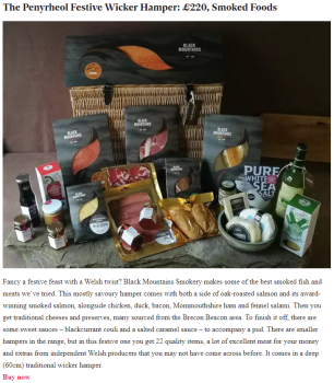 Independent Luxury Welsh Christmas Hamper