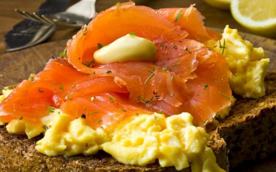 Black Mountains Smokery Scrambled Eggs and Smoked Salmon