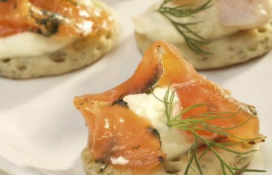 Smoked Salmon & Laverbread Blinis
