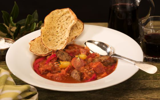 Welsh Dragon Sausage Cassoulet