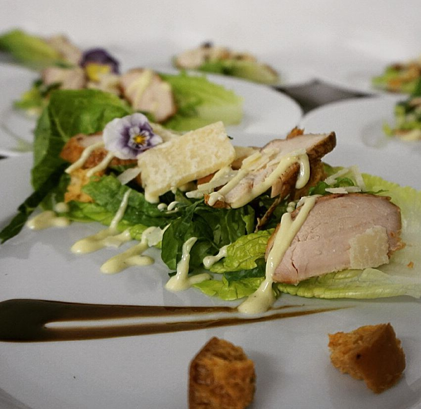 Oak Smoked Chicken Caesar Salad