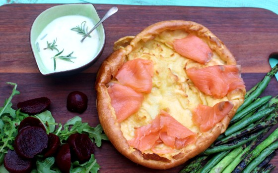 Yorkshire Pudding with Smoked Salmon Recipe